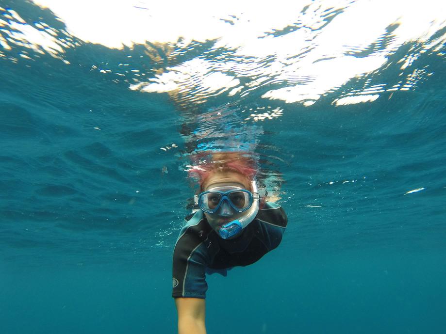 ookeanis snorgeldamas