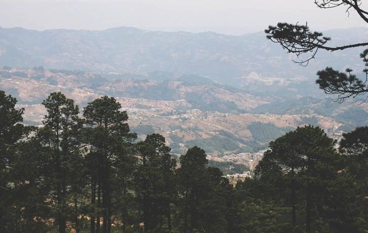 maaliline vaade mägedele
