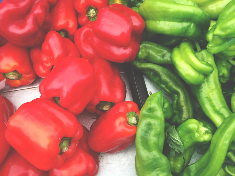 rohelised ja punased paprikad