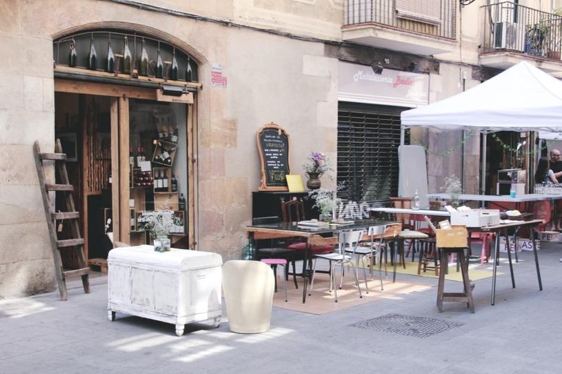 tänavakohvik barcelonas