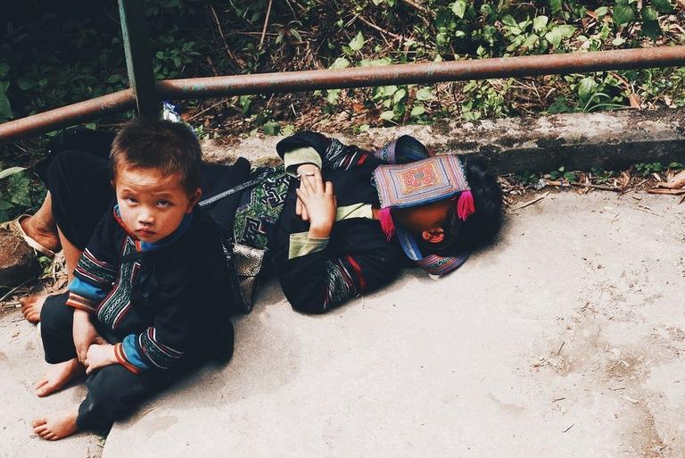 väikesed vietnami lapsed