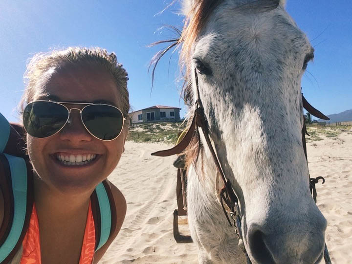 hobusega rannas