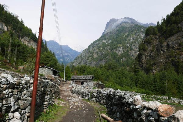 väike küla mägedes